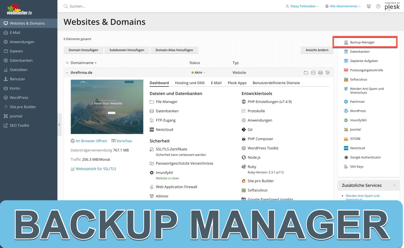 Backup Manager