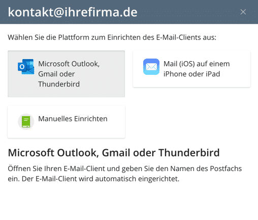 autoemail outlook gmail thunderbird