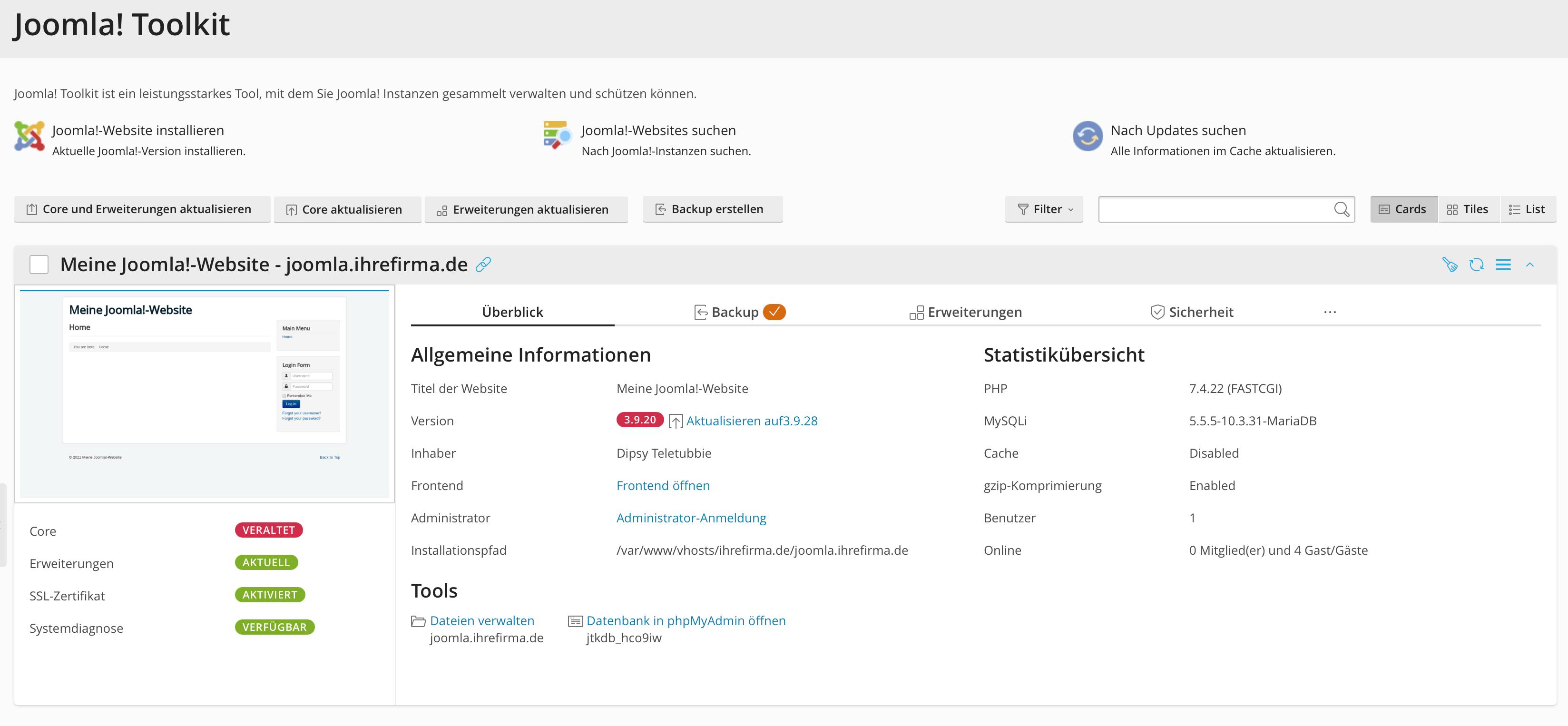Joomla Toolkit Extension