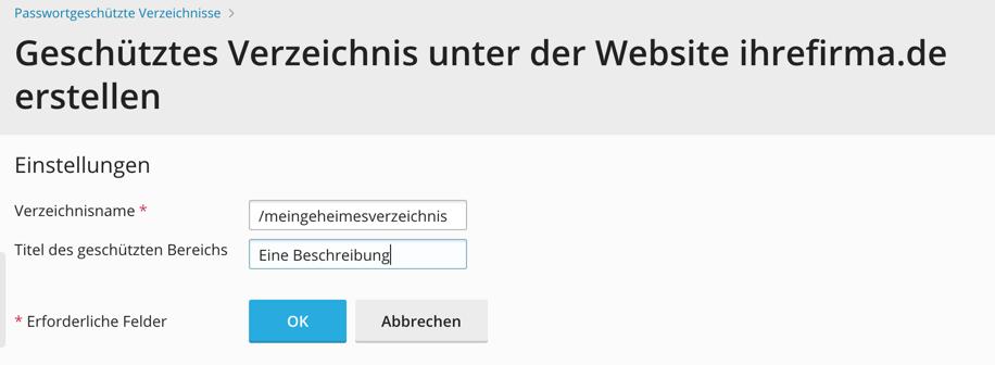 plesk passwortschutz demo 3