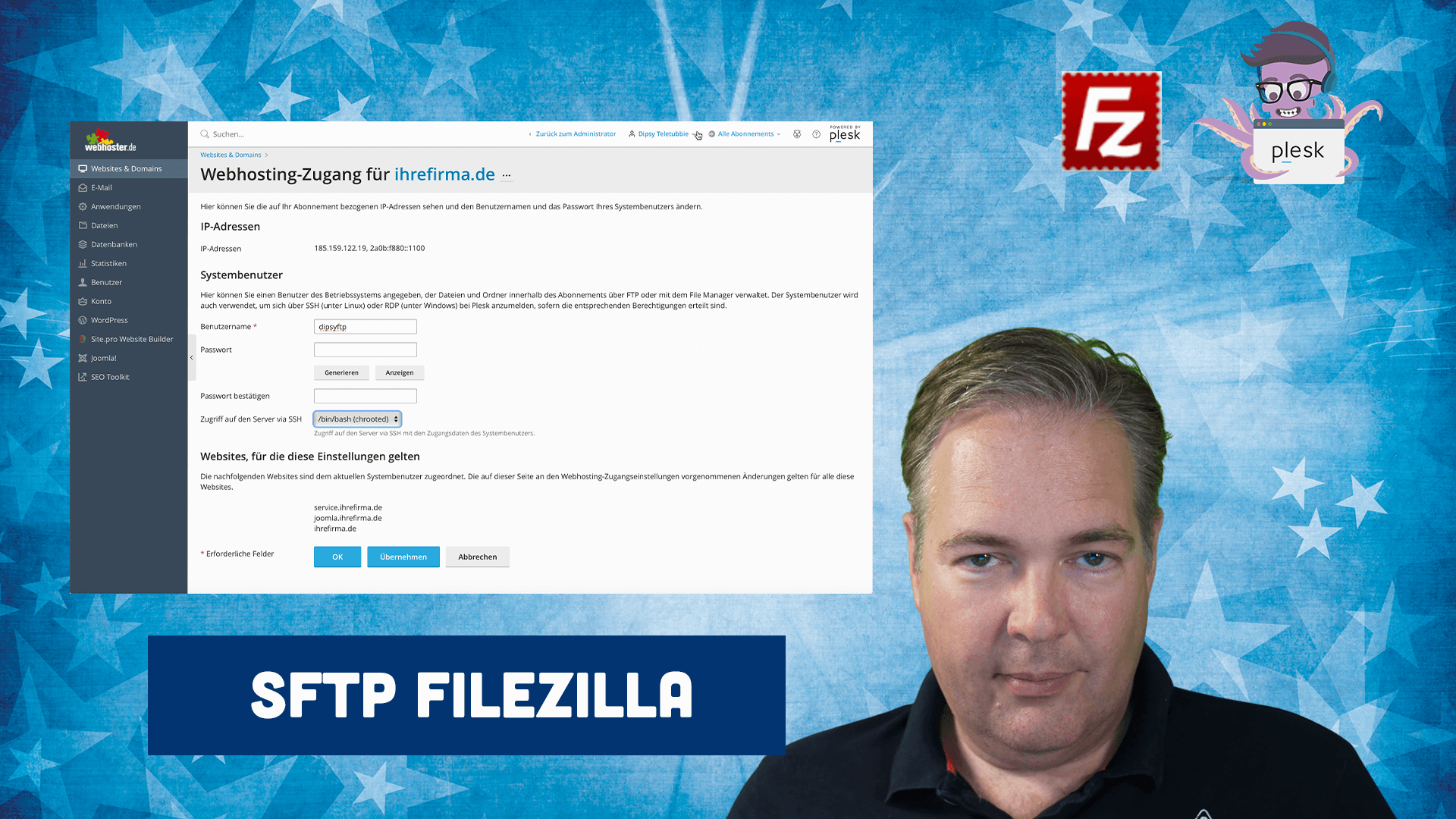 SFTP SSH mit filezilla